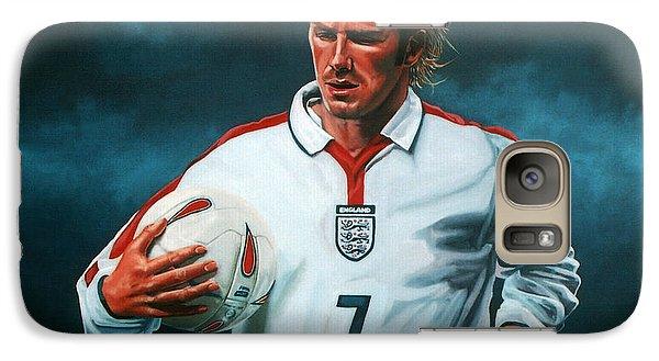 Athletes Galaxy S7 Case - David Beckham by Paul Meijering