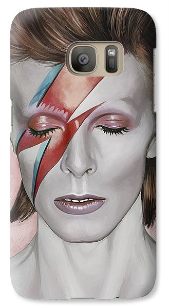 Galaxy Case featuring the painting David Bowie Artwork 1 by Sheraz A