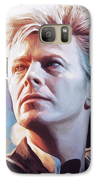 Galaxy Case featuring the painting David Bowie Artwork 2 by Sheraz A