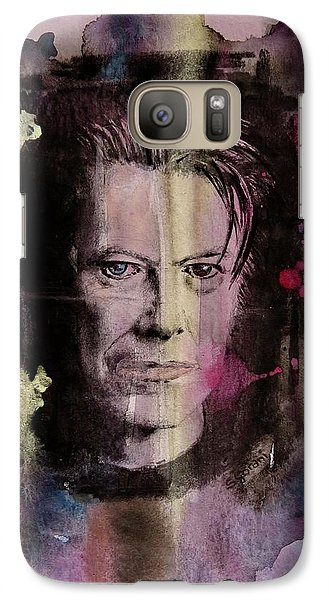 Galaxy Case featuring the painting David Bowie by Geni Gorani