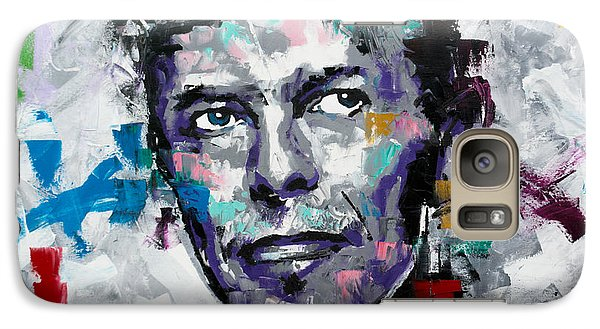 Galaxy Case featuring the painting David Bowie II by Richard Day