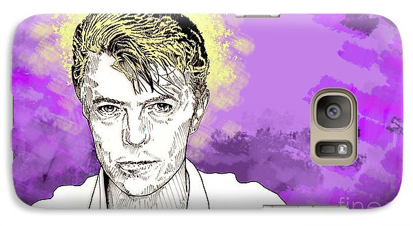 Galaxy Case featuring the drawing David Bowie by Jason Tricktop Matthews
