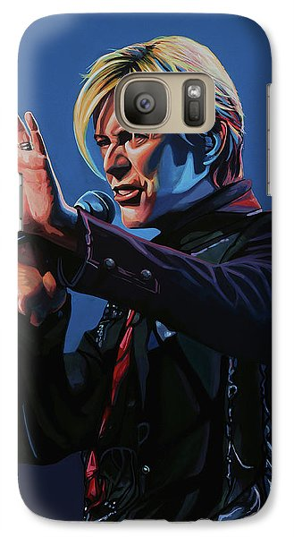 Realistic Galaxy S7 Case - David Bowie Live Painting by Paul Meijering