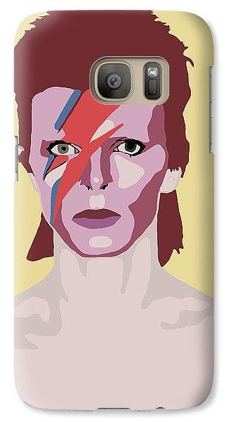 David Bowie Galaxy S7 Case by Nicole Wilson