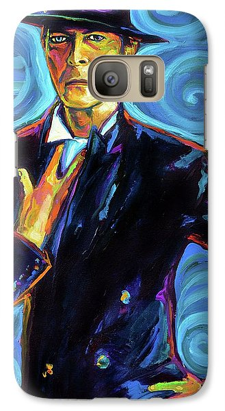 Galaxy Case featuring the painting David Bowie by Robert Phelps