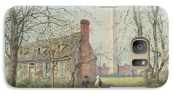 David Burns's Cottage And The Washington Monument, Washington Dc, 1892  Galaxy S7 Case