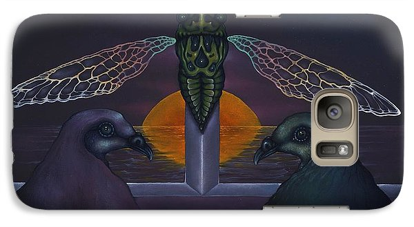 Galaxy Case featuring the painting Dawn And The Echo Of Confession by Andrew Batcheller