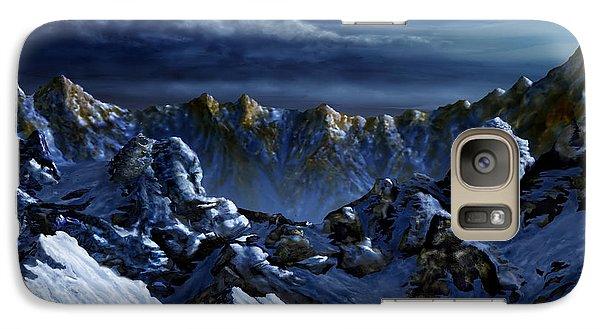 Galaxy Case featuring the digital art Dawn At Eagle's Peak by Curtiss Shaffer