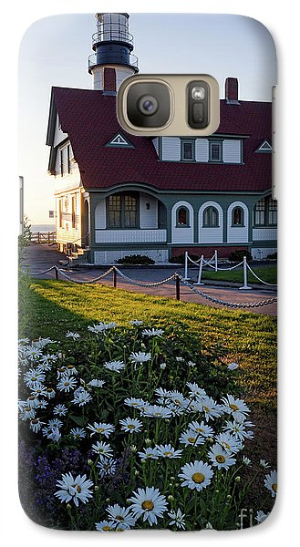 Galaxy Case featuring the photograph Dawn At Portland Head Light, Cape Elizabeth, Maine  -08614 by John Bald