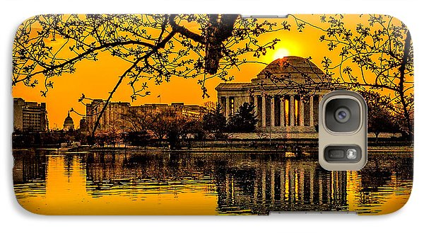 Galaxy Case featuring the photograph Dawn At The Jefferson Memorial  by Nick Zelinsky