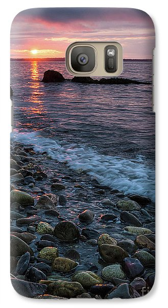 Galaxy Case featuring the photograph Dawn, Camden, Maine  -18868-18869 by John Bald