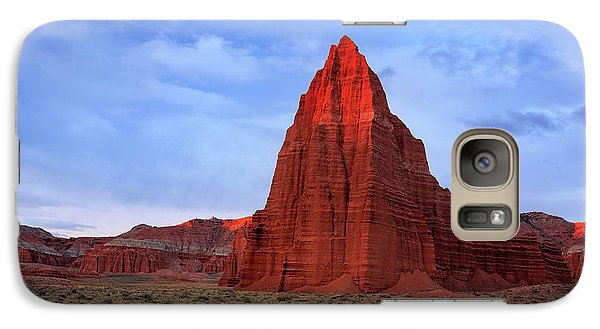 Galaxy Case featuring the photograph Dawn Glow In Cathedral Valley. by Johnny Adolphson