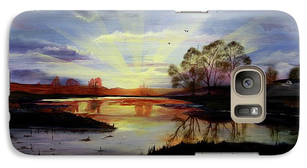 Galaxy Case featuring the painting Dawn by Jane Autry