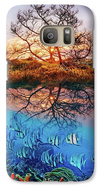 Galaxy Case featuring the photograph Dawn Over The Reef by Debra and Dave Vanderlaan
