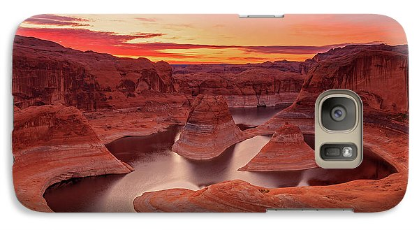 Dawn Sky Above Reflection Canyon. Galaxy Case by Johnny Adolphson