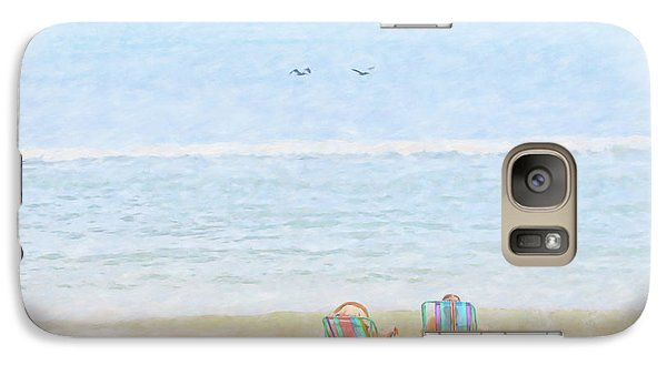 Galaxy Case featuring the digital art Day At The Beach Sun And Sand by Randy Steele