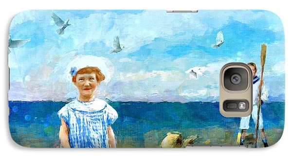 Galaxy Case featuring the digital art Day At The Shore by Alexis Rotella