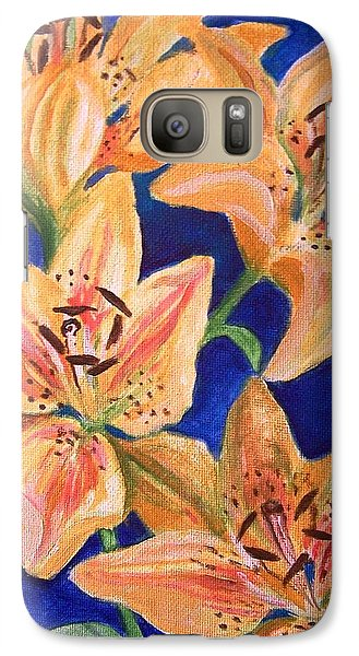 Galaxy Case featuring the painting Day Lilies by Laura Aceto