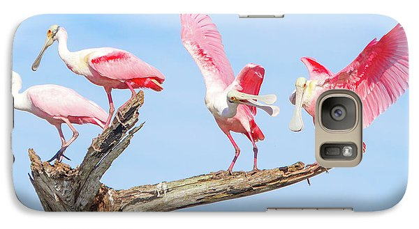 Day Of The Spoonbill  Galaxy S7 Case by Mark Andrew Thomas