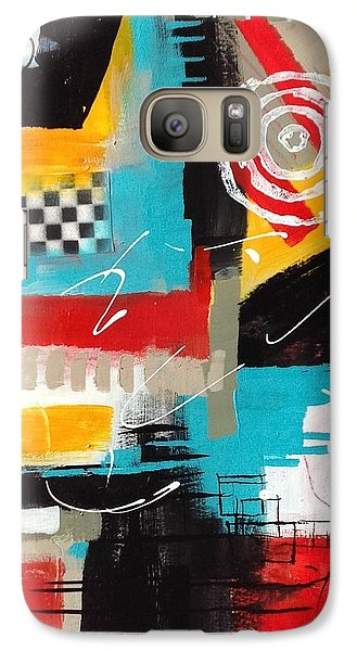 Galaxy Case featuring the painting Day Six...30 In 30 Challenge  by Suzzanna Frank