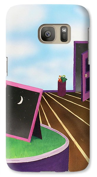 Galaxy Case featuring the painting Day by Thomas Blood