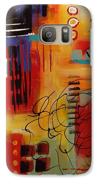 Galaxy Case featuring the painting Day Two...30 In 30 Challenge by Suzzanna Frank