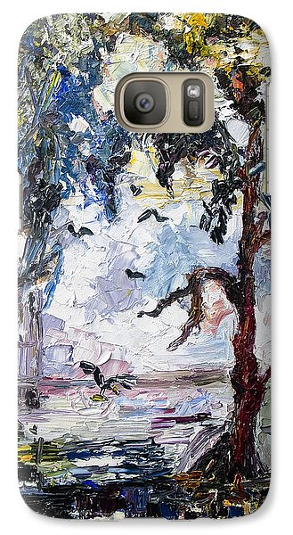 Galaxy Case featuring the painting Daybreak In The Okefenokee by Ginette Callaway