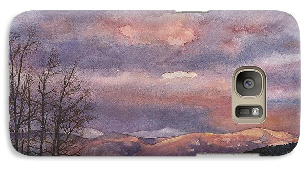 Galaxy Case featuring the painting Daylight's Last Blush by Anne Gifford