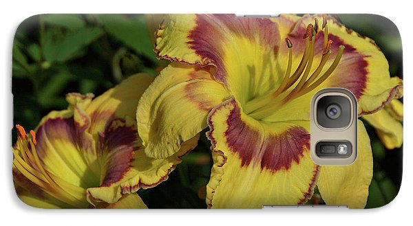 Galaxy Case featuring the photograph Daylilies And Zinnia by Sandy Keeton
