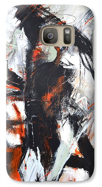 Galaxy Case featuring the painting Day's End by Cher Devereaux