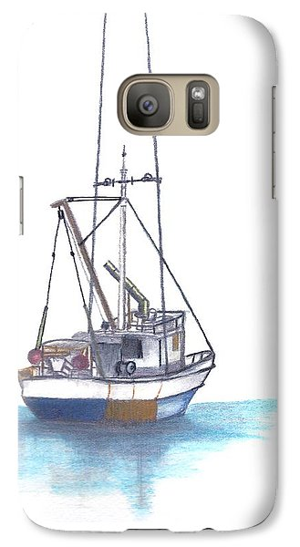Galaxy Case featuring the drawing Days End by Terry Frederick
