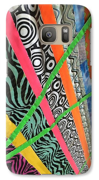 Galaxy Case featuring the photograph Dazzling Delirious Duct Tape Diagonals by Douglas Fromm