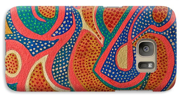 Galaxy Case featuring the painting Dotted Motif by Polly Castor