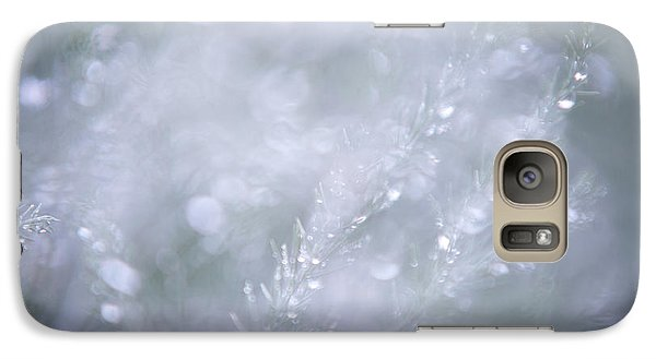 Galaxy Case featuring the photograph Dazzling Silver World by Jenny Rainbow