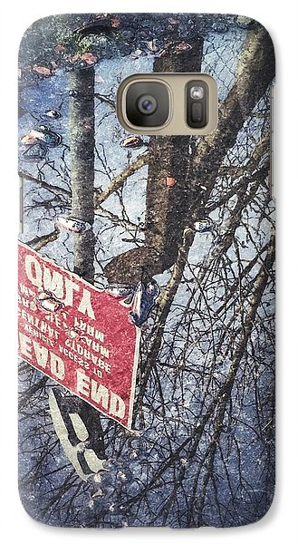 Galaxy Case featuring the photograph Dead End by RKAB Works