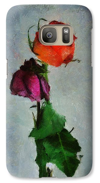 Galaxy Case featuring the digital art Dead Roses by Francesa Miller