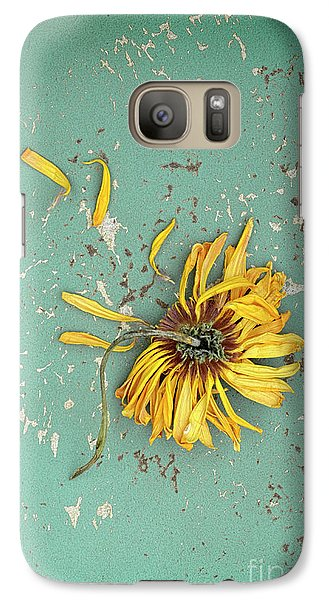 Galaxy Case featuring the photograph Dead Suflower by Jill Battaglia