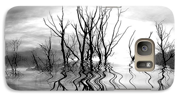 Galaxy Case featuring the photograph Dead Trees Bw by Susan Kinney