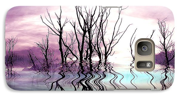 Galaxy Case featuring the photograph Dead Trees Colored Version by Susan Kinney