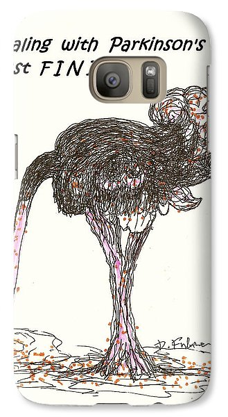 Galaxy Case featuring the drawing Dealing Just Fine by Denise Fulmer