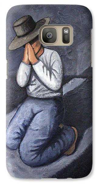 Galaxy Case featuring the painting Dear God 3 by Lance Headlee