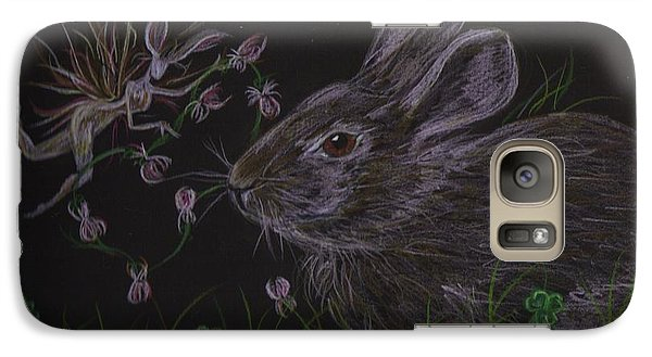 Galaxy Case featuring the drawing Dearest Bunny Eat The Clover And Let The Garden Be by Dawn Fairies