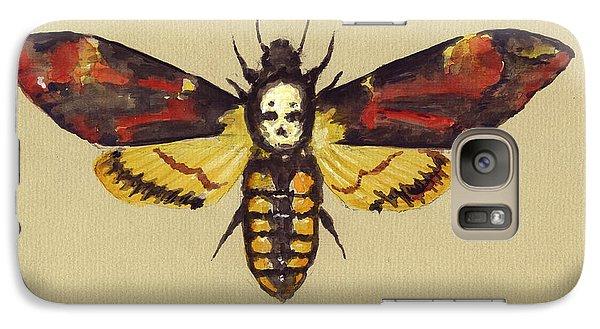Hawk Galaxy S7 Case - Death Head Hawk Moth by Juan Bosco