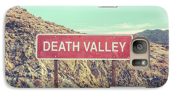Mountain Galaxy S7 Case - Death Valley Sign by Mr Doomits