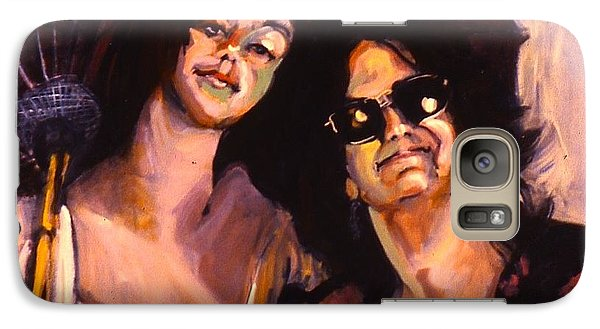 Galaxy Case featuring the painting Debbie And Kate by Les Leffingwell