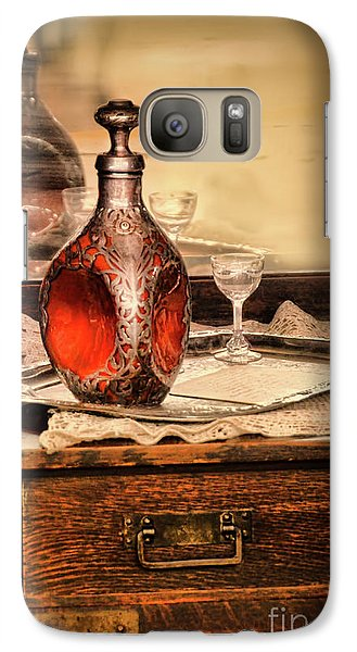 Galaxy Case featuring the photograph Decanter And Glass by Jill Battaglia