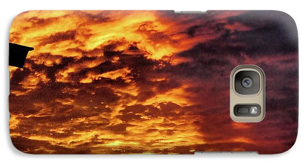 Galaxy Case featuring the painting December Austin Sunset  by Layne William LoMaglio