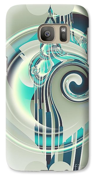 Galaxy Case featuring the digital art December by Michelle H