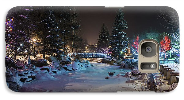 Galaxy Case featuring the photograph December On The Riverwalk by Perspective Imagery