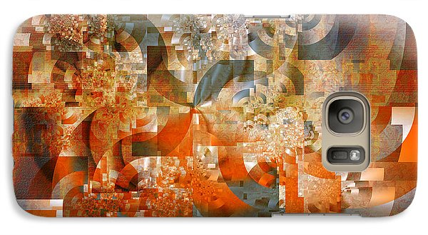 Galaxy Case featuring the digital art Deco Bubbles by Richard Ortolano